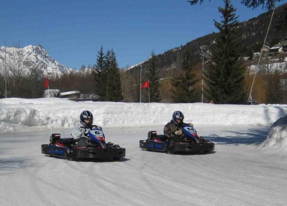 Kart sur glace pour votre séjour au ski à Serre Chevalier