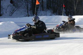 Course de Kart sur glace pour votre séjour au ski à Serre Chevalier