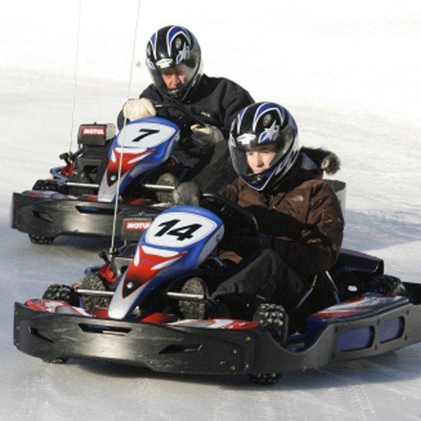Kart sur glace pour votre séjour au ski tout compris à Serre Chevalier